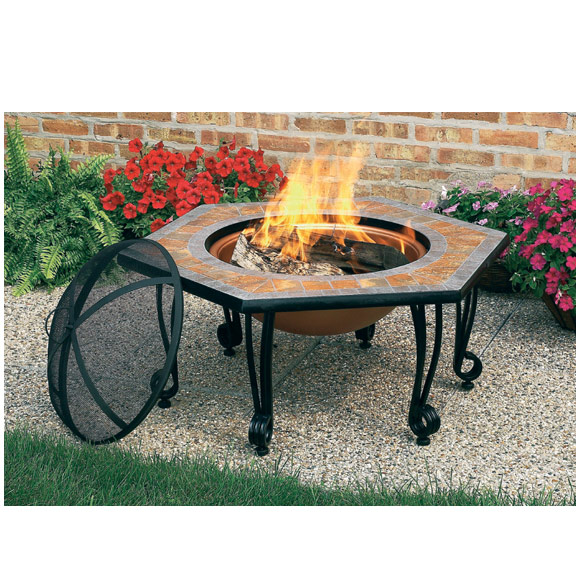 Fb8005 Cobraco Square Portable Fire Pit With Wheels By