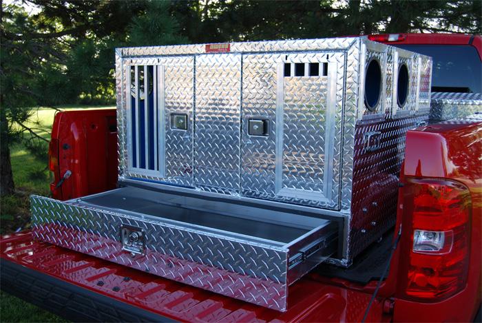 Owens Dog Box Pro Hunter Series W Bottom Storage 46x 45x 33