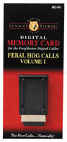Johnny Stewart Model #MC-FH1 Feral Hog Calls Memory Card, Volume 1