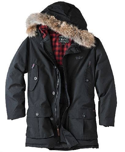Woolrich Model #16107 Men's Arctic Parka Black Winter Coat