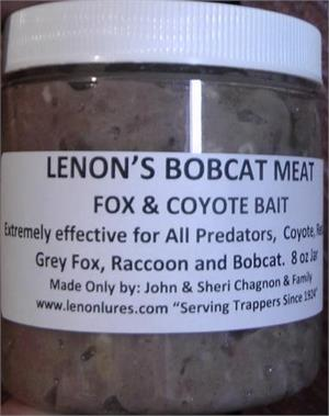 Lenon's Bobcat Meat Fox and Coyote Bait 8 oz Jar
