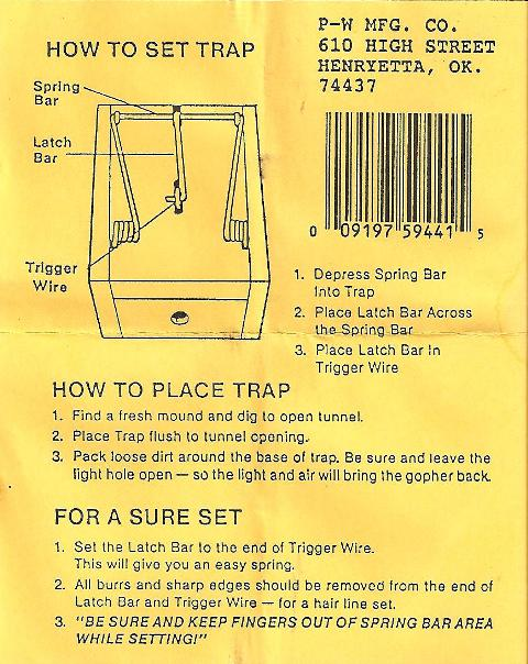 Gopher Getter Wood Box Trap Gopher Trap Model Dk 2 This Easy To Set