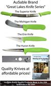 AuSable Brand Fur Handling Skinning Knives and Fleshing Knife Deluxe Package